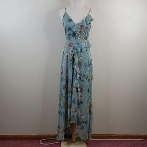 ASTR THE LABEL Green Floral Maxi Dress